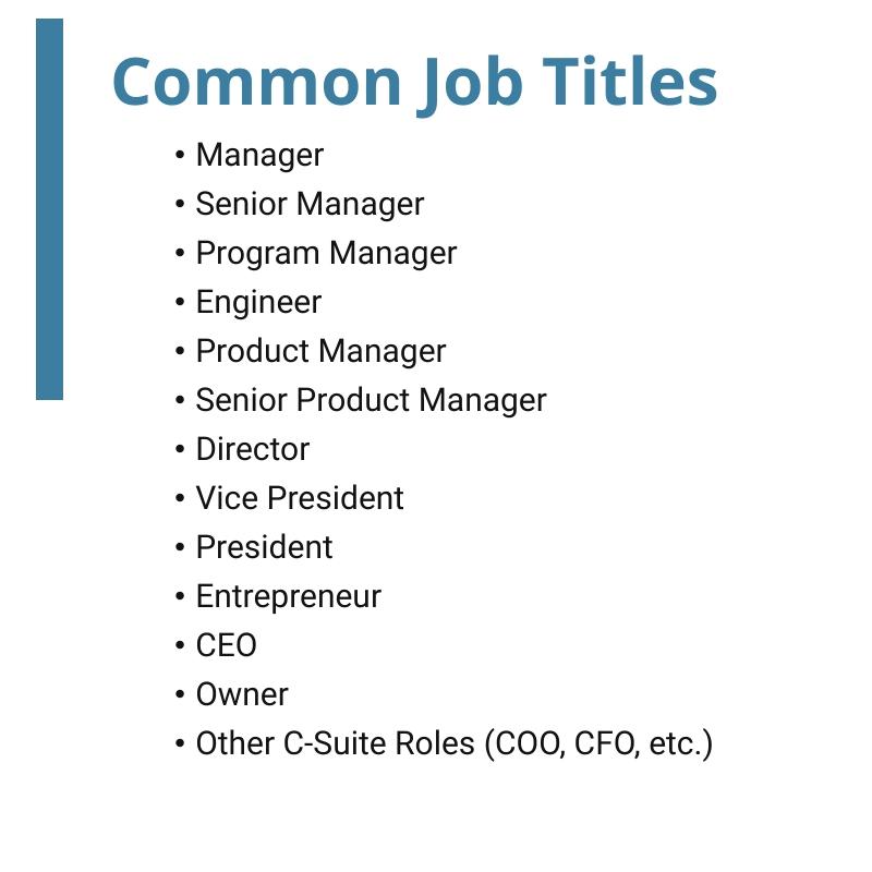 common job titles-Square